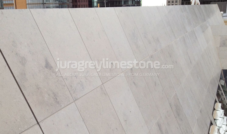 Jura Grey limestone cladding
