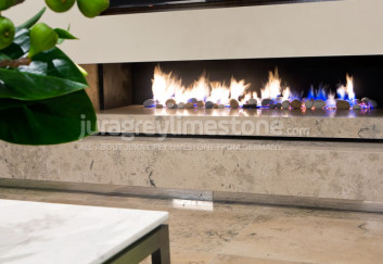 Jura Grey limestone decoration